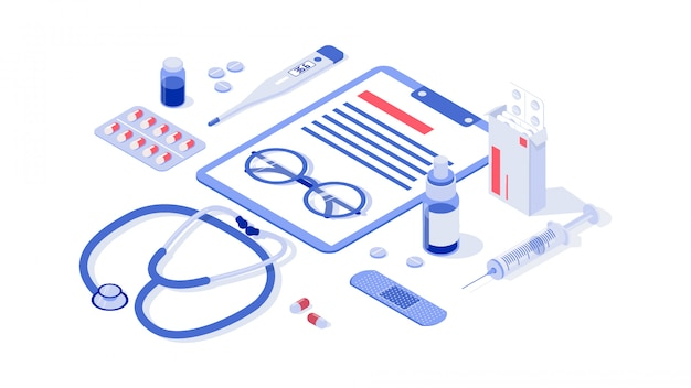 Healthcare, pharmacy and medical illustration