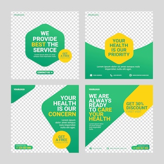 Healthcare post social media template