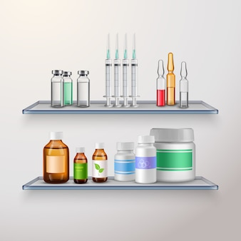 Healthcare product shelves composition