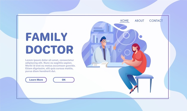 Healthcare services flat vector illustration