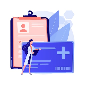 Healthcare smart card abstract concept illustration