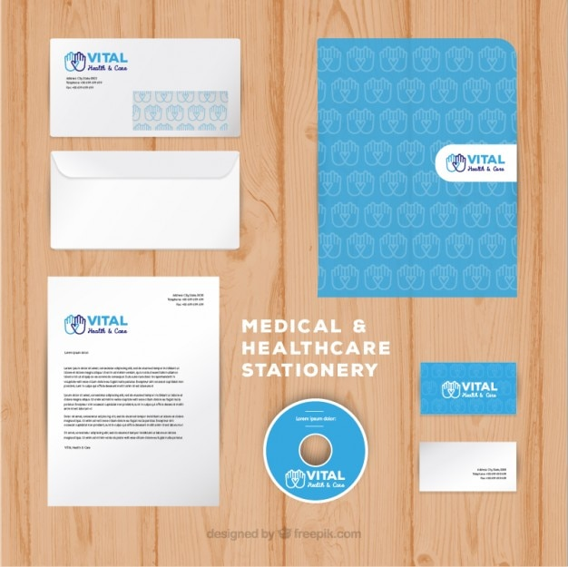 Healthcare stationery collection