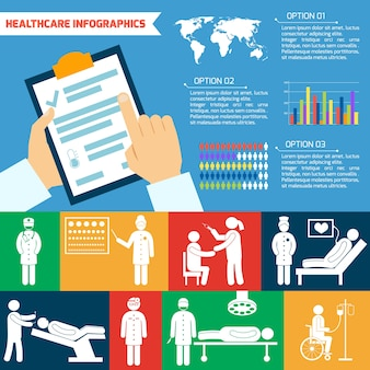 Healthcare инфографики шаблон