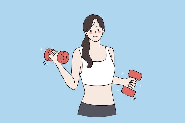 건강한 활동적인 라이프스타일과 스포츠 개념
