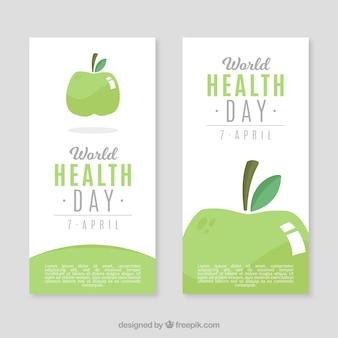Здоровые баннеры яблоко