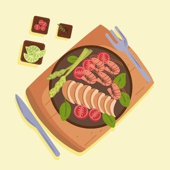 건강한 균형 잡힌 음식
