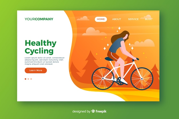 Healthy cycling landing page