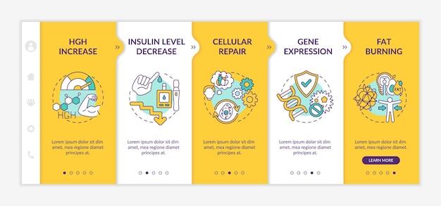 건강한 다이어트 효과 온 보딩 앱 모바일 템플릿
