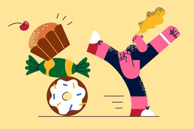 健康的な食事とライフスタイルの概念