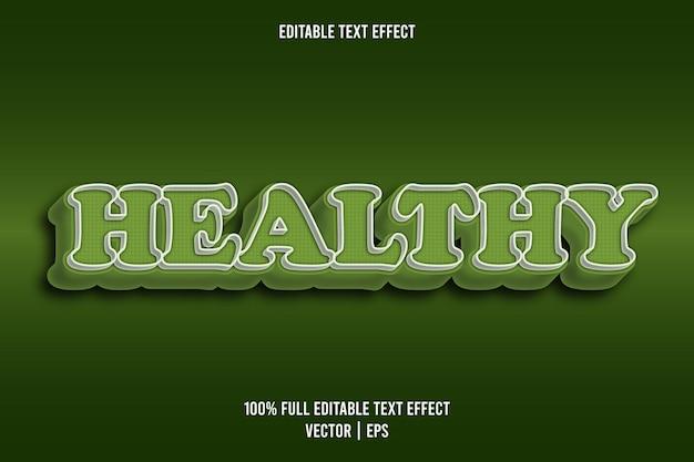 健康的な編集可能なテキスト効果コミックスタイル