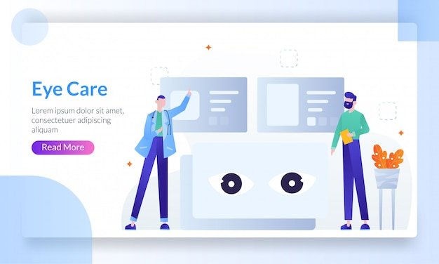 Healthy eyes and vision landing page