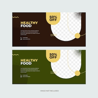 Healthy food banner template for world food day