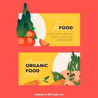 Raccolta di cibo sano con design piatto