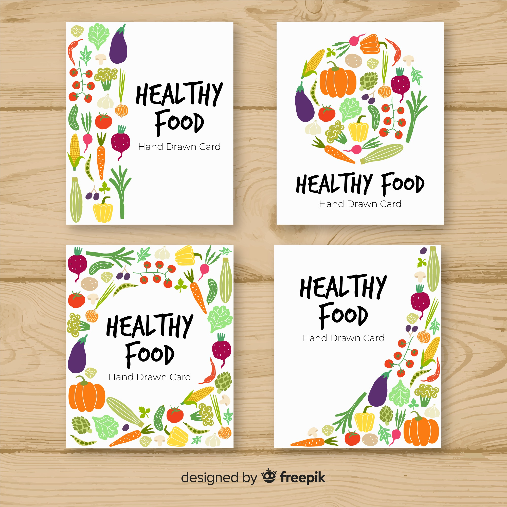Healthy food card collection