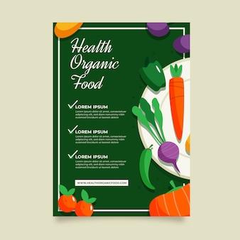 Disegno del modello di volantino cibo sano