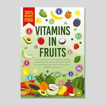 Healthy food flyer template