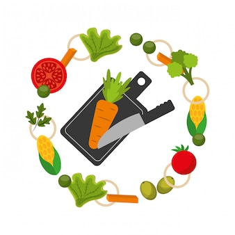 Healthy food frame