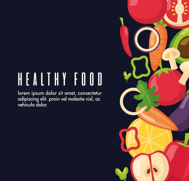 健康食品の新鮮なバナー