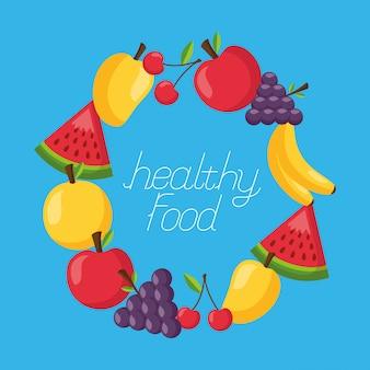Healthy food fresh frame