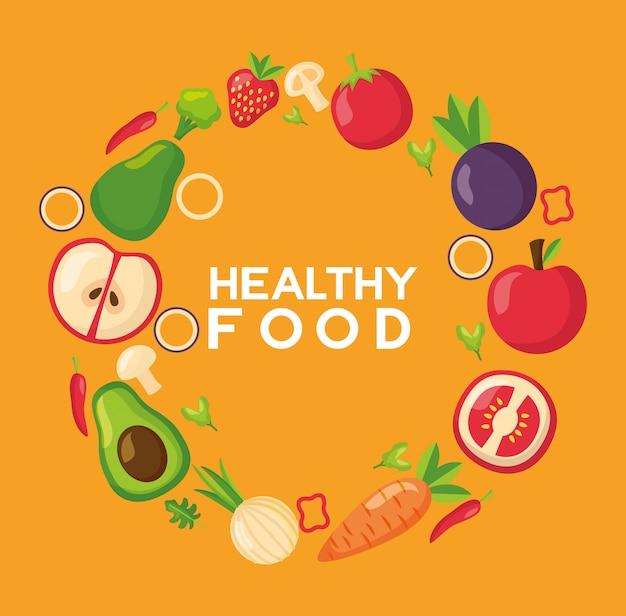 Здоровая еда свежая рамка