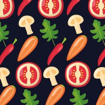 Healthy food fresh pattern
