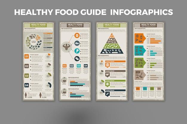 健康食品ガイドインフォグラフィックテンプレート