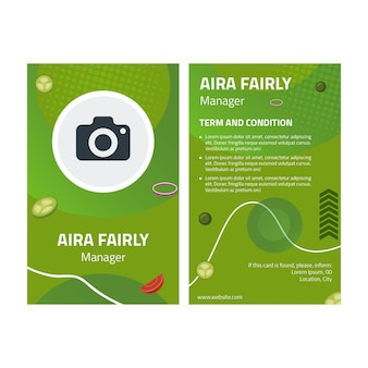 Healthy food id card template