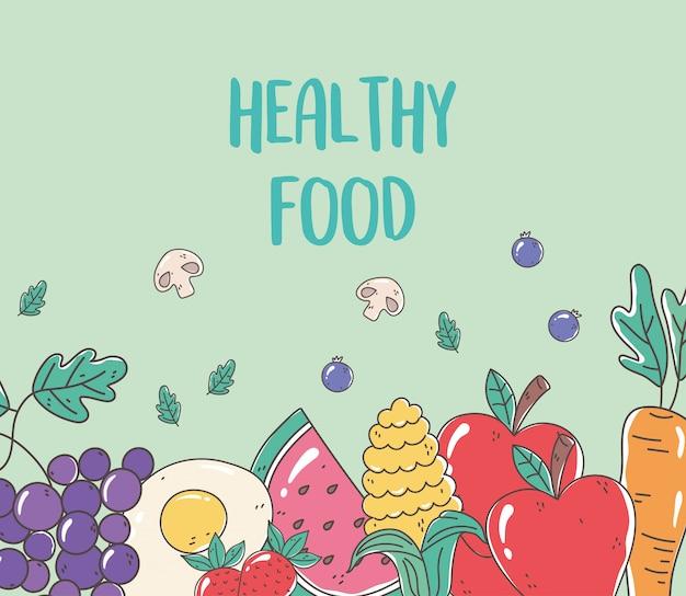 Иллюстрация здоровой пищи