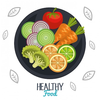 Healthy food illustration