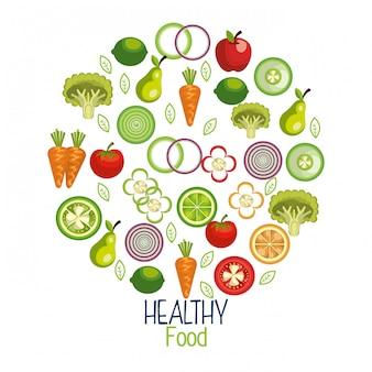 Healthy food illustration