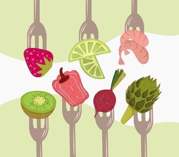 フォークの健康食品