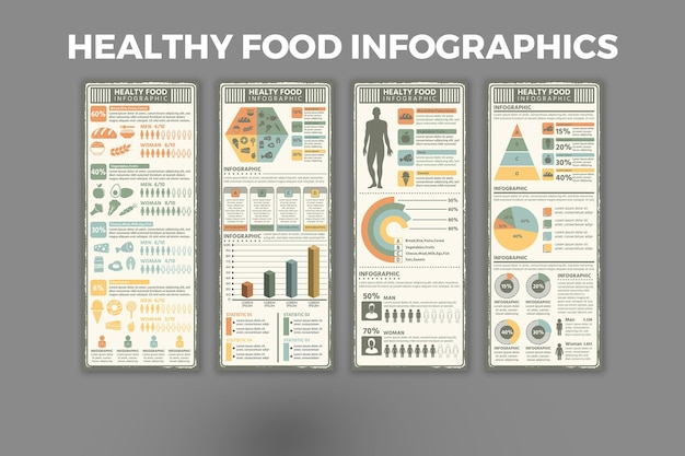 健康食品のインフォグラフィックテンプレート