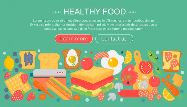 Healthy food infographics template design