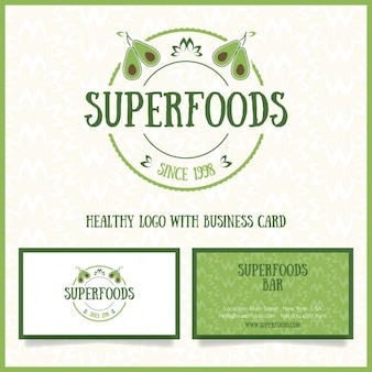 Healthy food logo and business cards