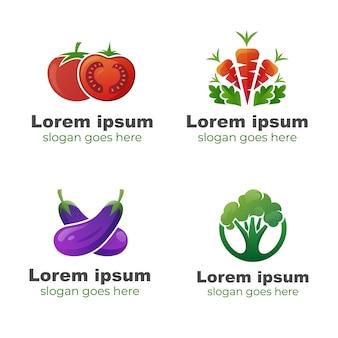 건강 식품 로고