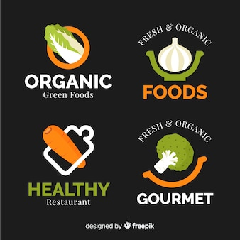Healthy food logos