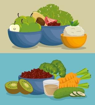 Иконки меню здорового питания