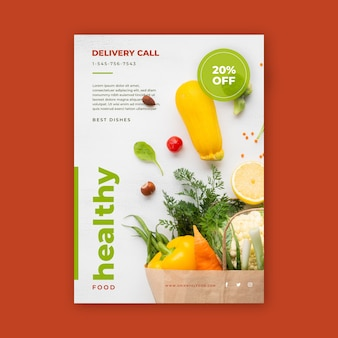 Healthy food poster design
