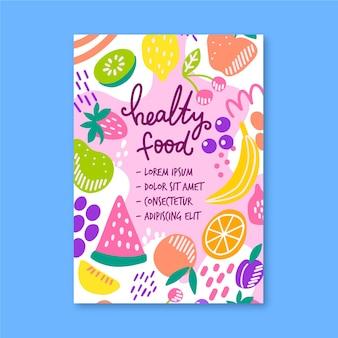 Шаблон плаката / флаера здоровой пищи
