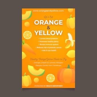 Дизайн шаблона плаката здоровой пищи