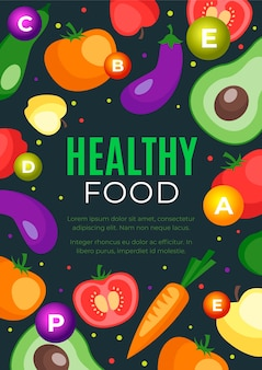 Tema del modello di poster di cibo sano