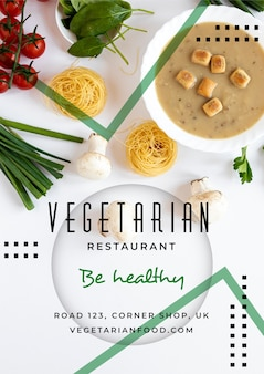 Healthy food poster template theme