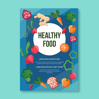 Healthy food poster template