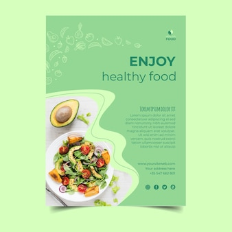 Healthy food postertemplate