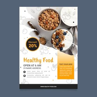 Healthy food restaurant flyer template