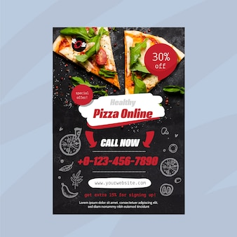 Healthy food restaurant flyer template