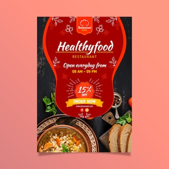 Healthy food restaurant flyer
