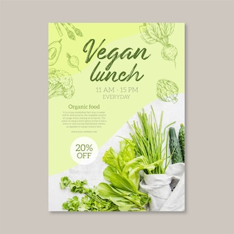 Healthy food restaurant menu template