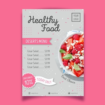 Healthy food restaurant poster style