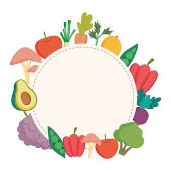 Закругленная рамка здорового питания